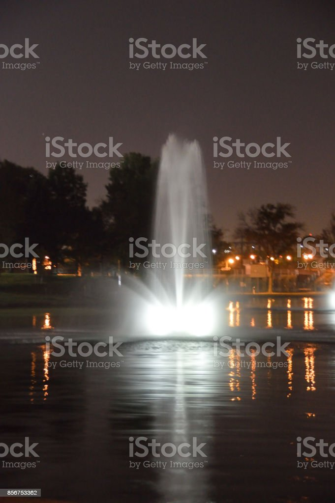 Lights And Water In The Lake Stock Photo - Download Image