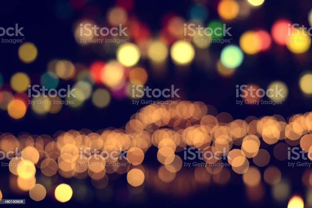 Lights blurred bokeh stock photo