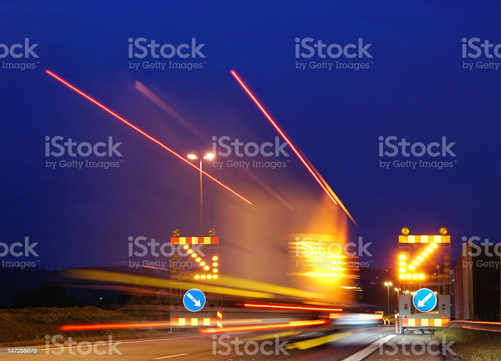 Lights from a big truck. royalty-free stock photo