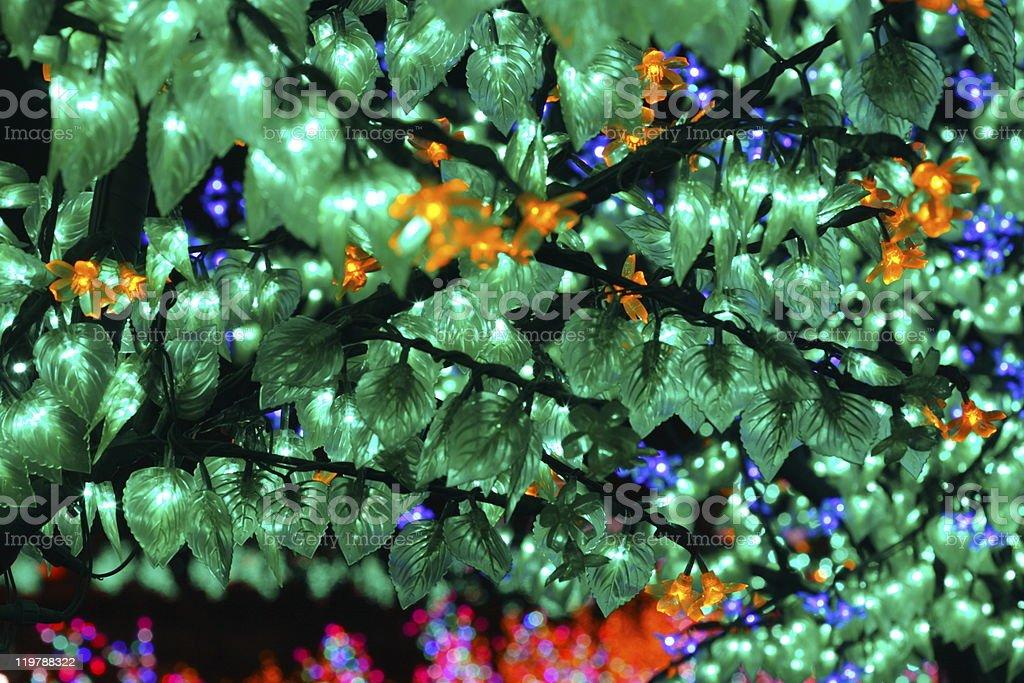 LED lights garden stock photo