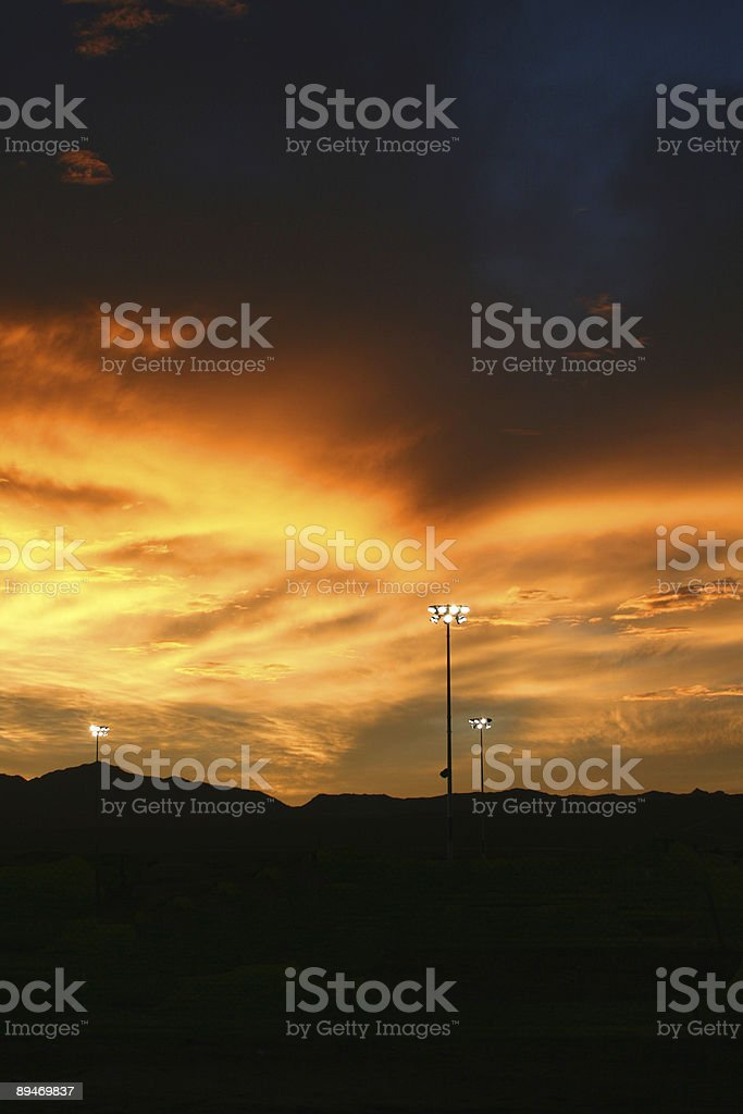 Lights in the Distance royalty-free stock photo