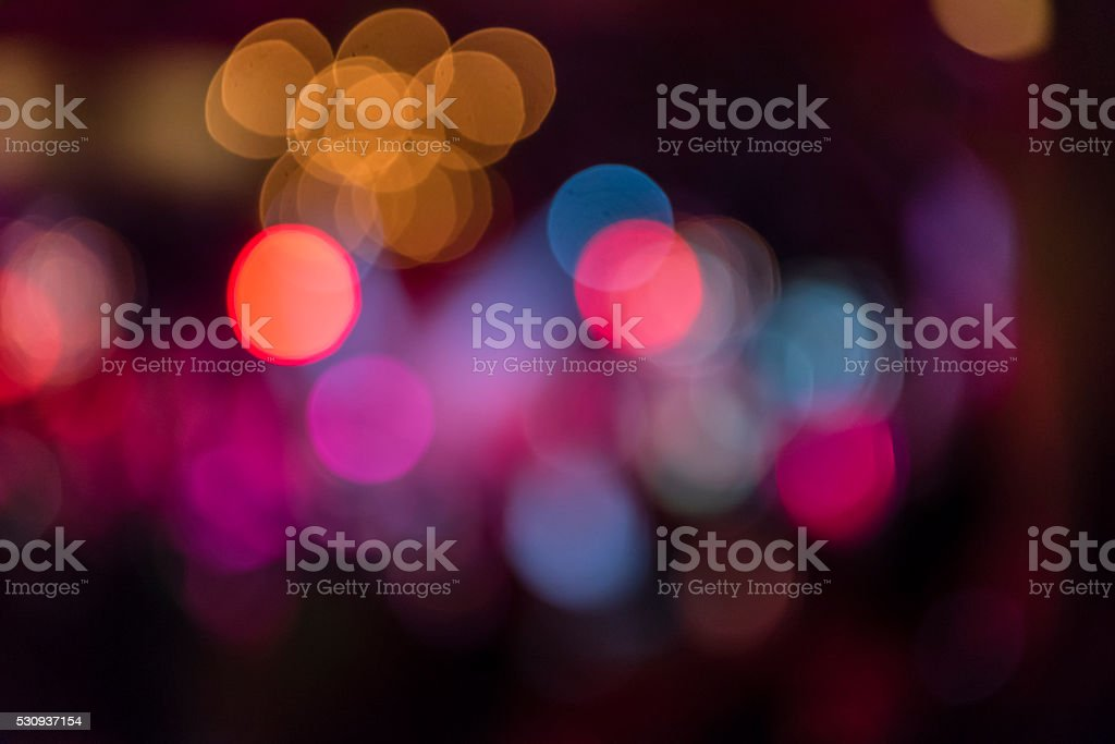 lights in the night stock photo