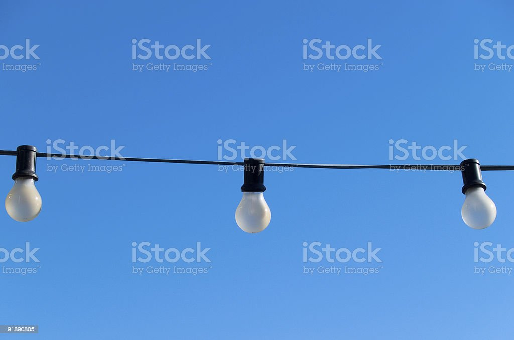 Lights in the sky royalty-free stock photo