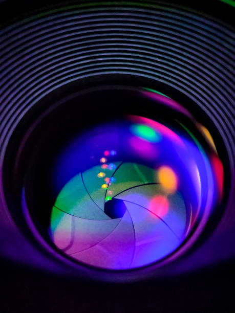 lights, lens and aperture - aperture stock pictures, royalty-free photos & images