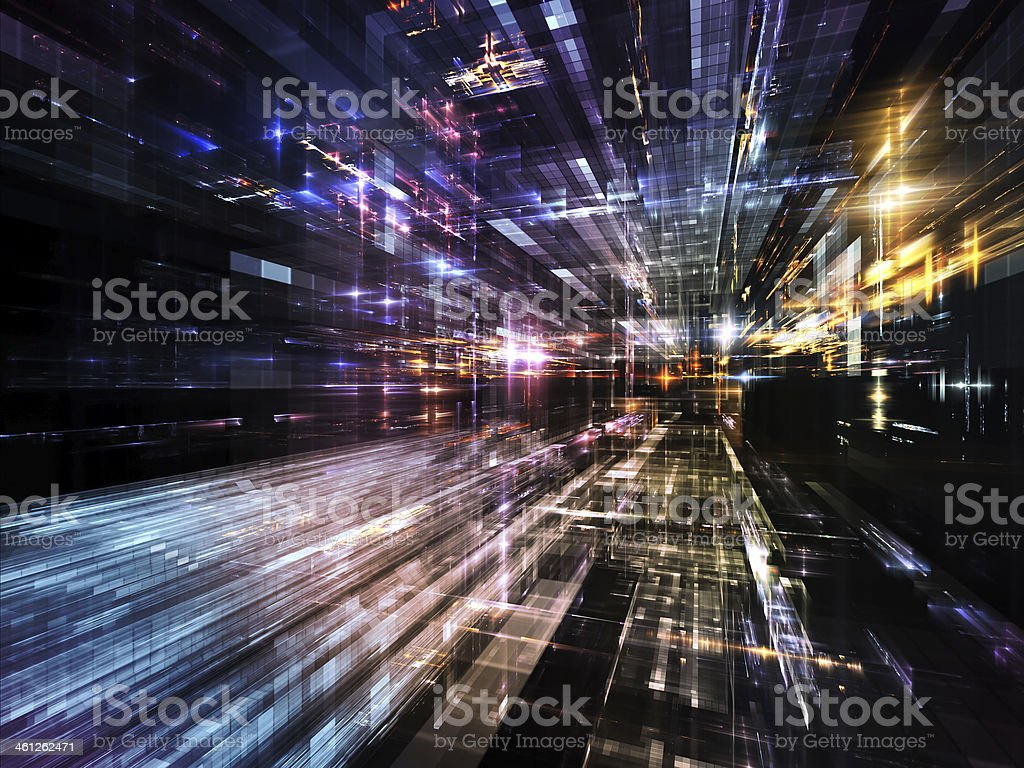 Lights of Future Metropolis royalty-free stock photo