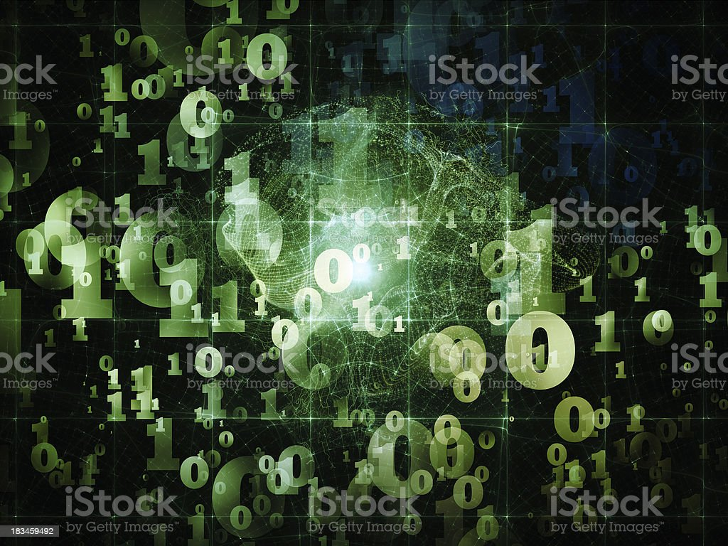 Lights of Numbers royalty-free stock photo