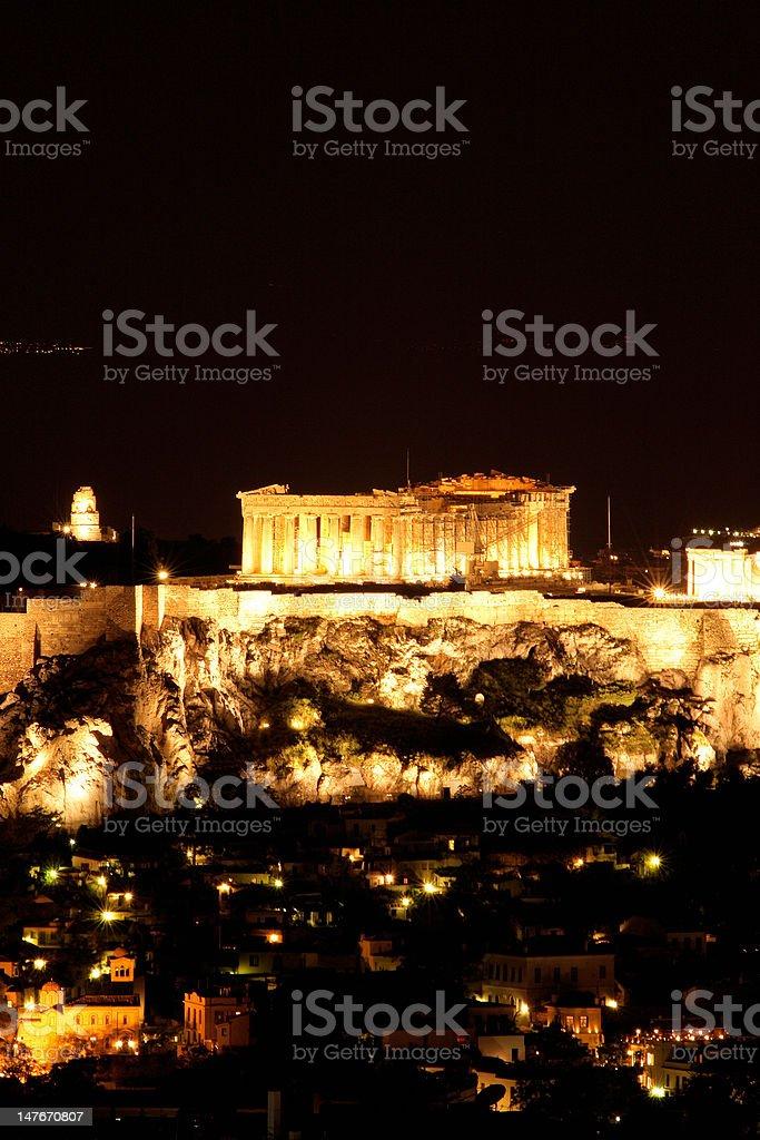 lights of parthenon royalty-free stock photo