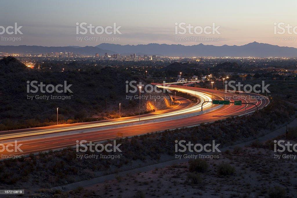 Lights Of Phoenix At Sunset royalty-free stock photo