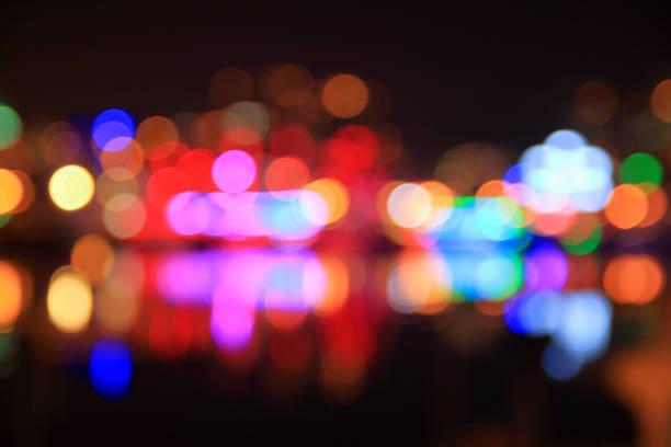 Lights of the night coast.