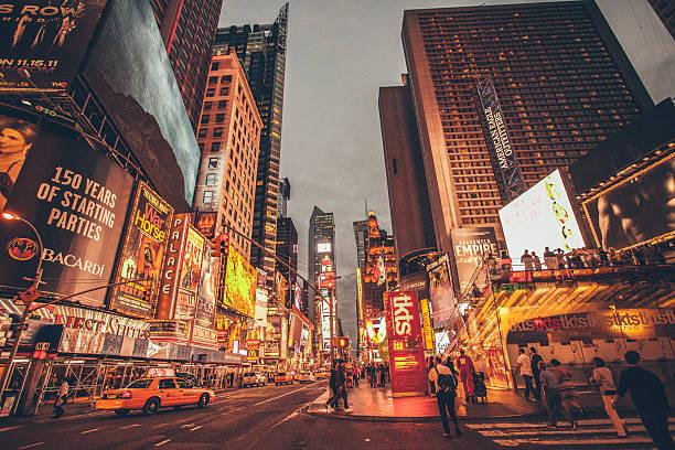 Luzes da Times Square - foto de acervo