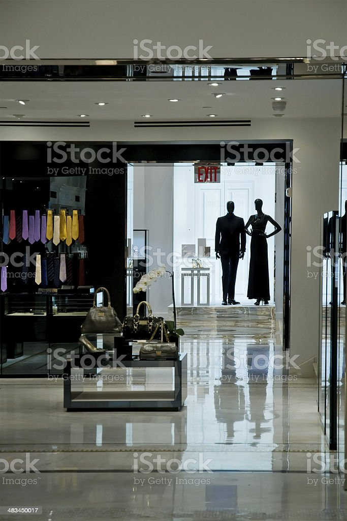 Lights off in the upscale department store royalty-free stock photo