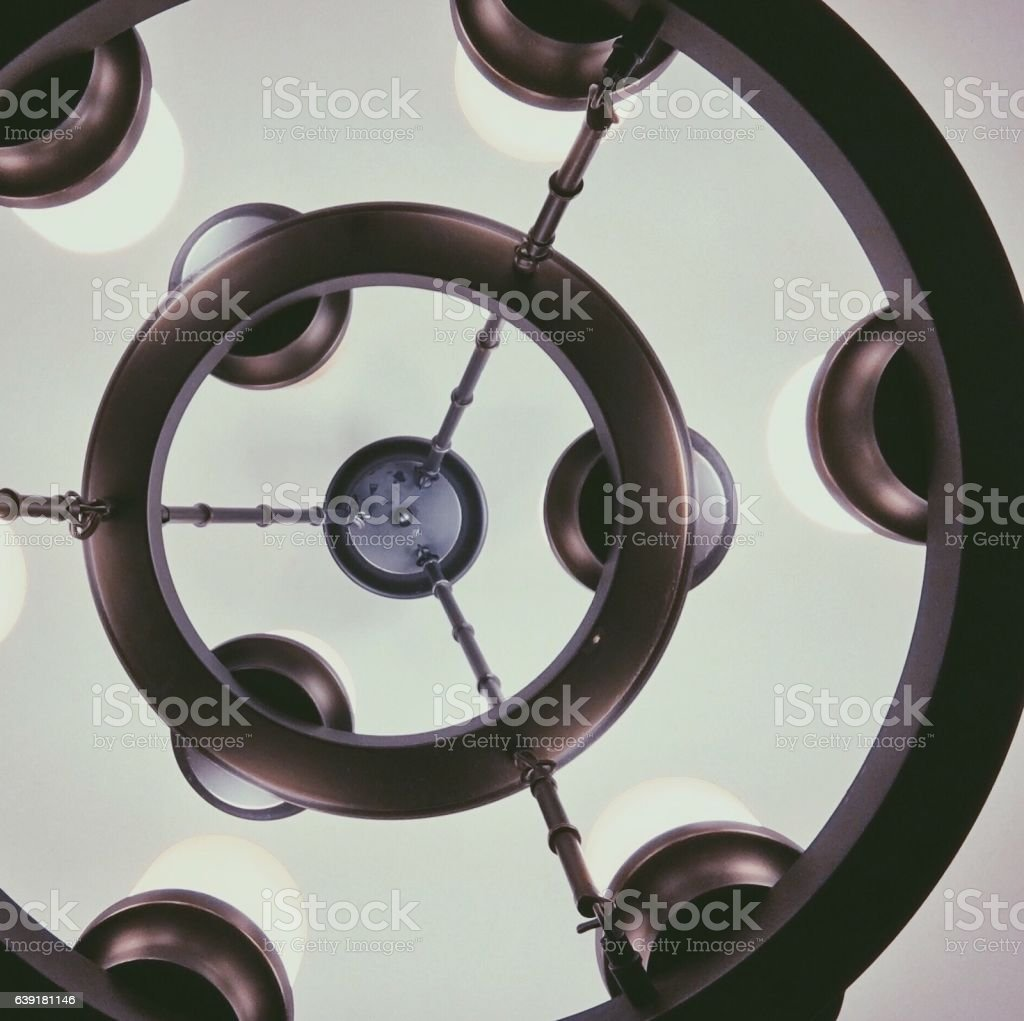 Lights On A Chandelier stock photo