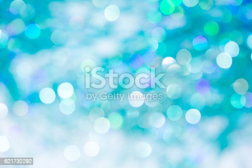 istock Lights on blue background. holiday bokeh 621732292