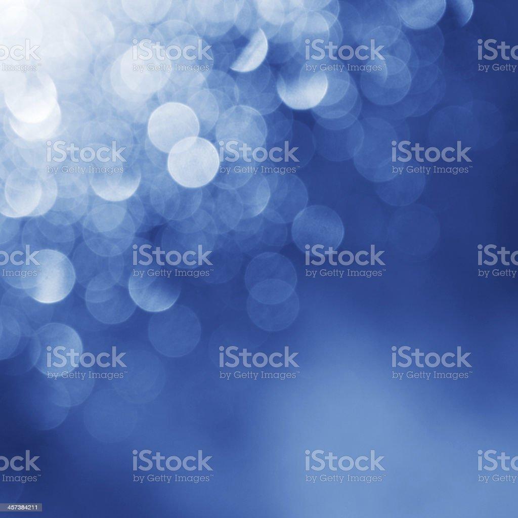 Lights on blue background stock photo