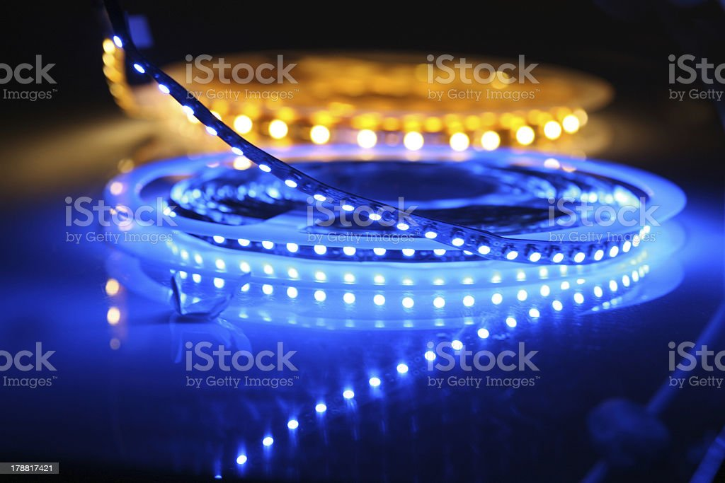 LED lights stock photo