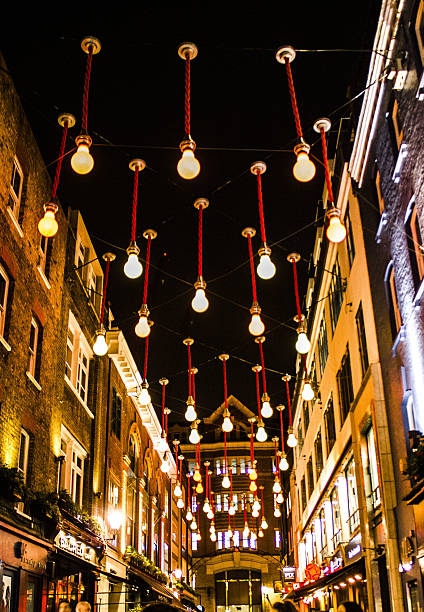 lights london,carnaby street carnaby street stock pictures, royalty-free photos & images