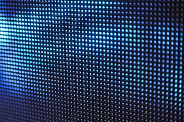 led-lichter - tupfen wände stock-fotos und bilder
