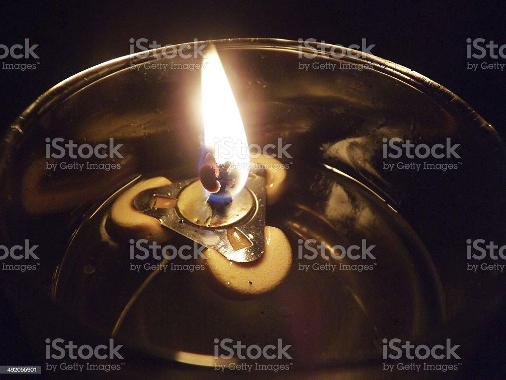 lights the lamp stock photo