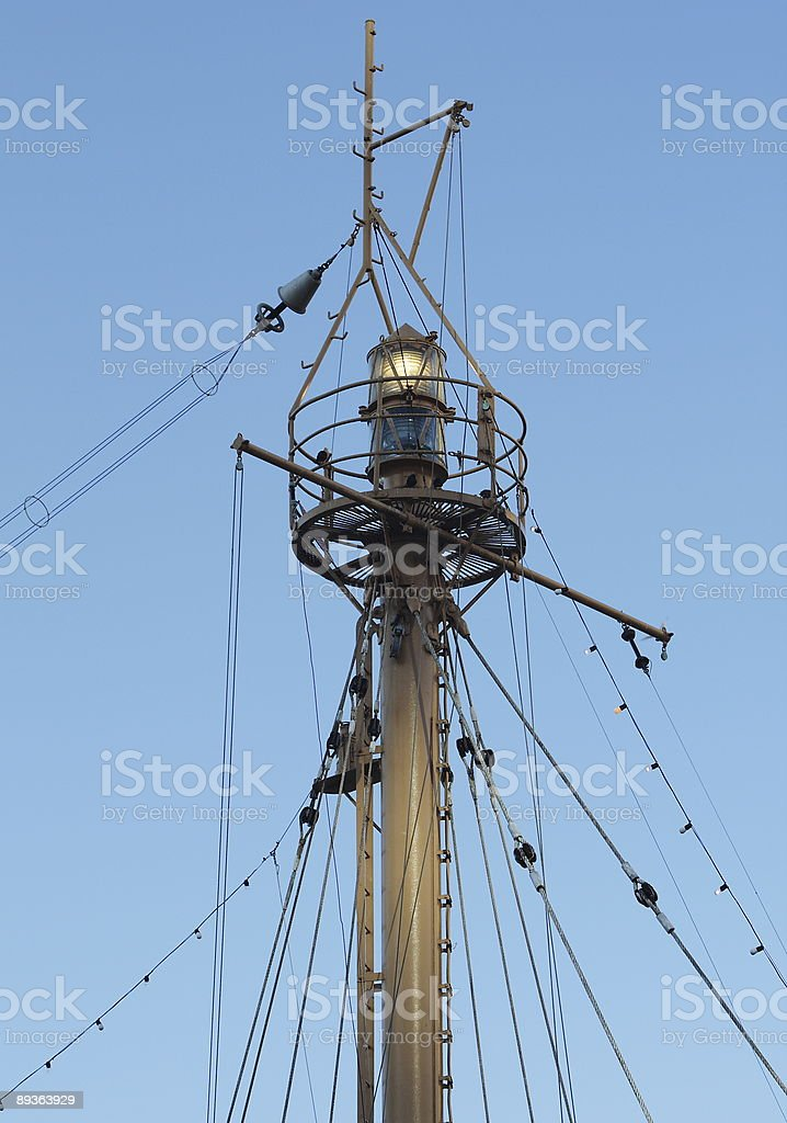Lightship Beacon and Mast royalty-free stock photo