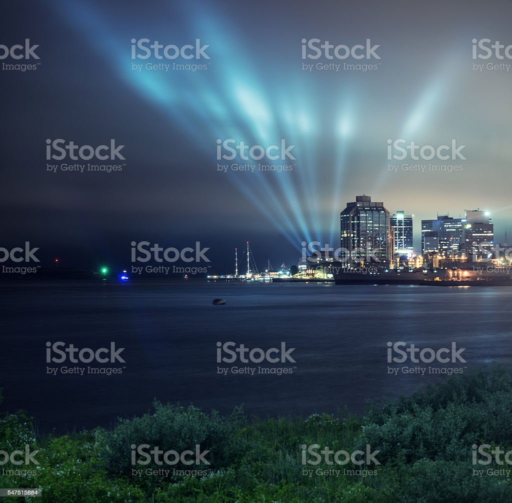 Lightshow in Halifax stock photo