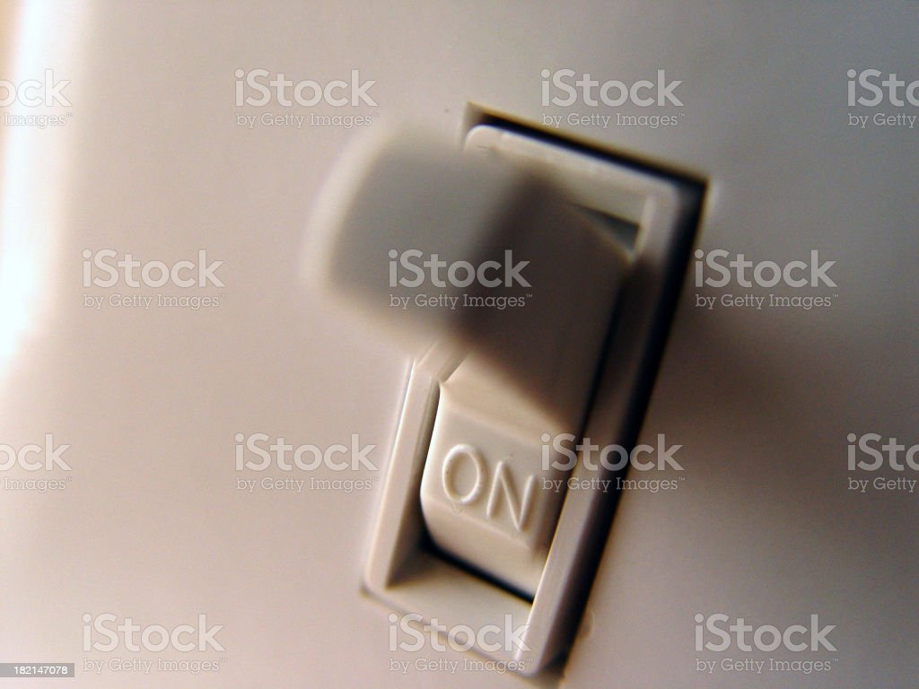 Lightswitch - On stock photo