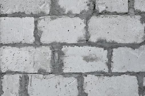 istock Lightweight aerated concrete block wall 1055400214