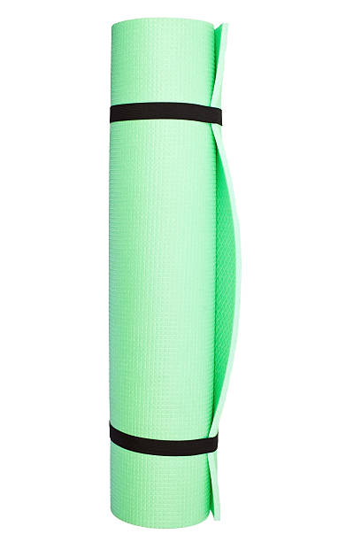 Lightweight foam Yoga Mat roll isolated stock photo