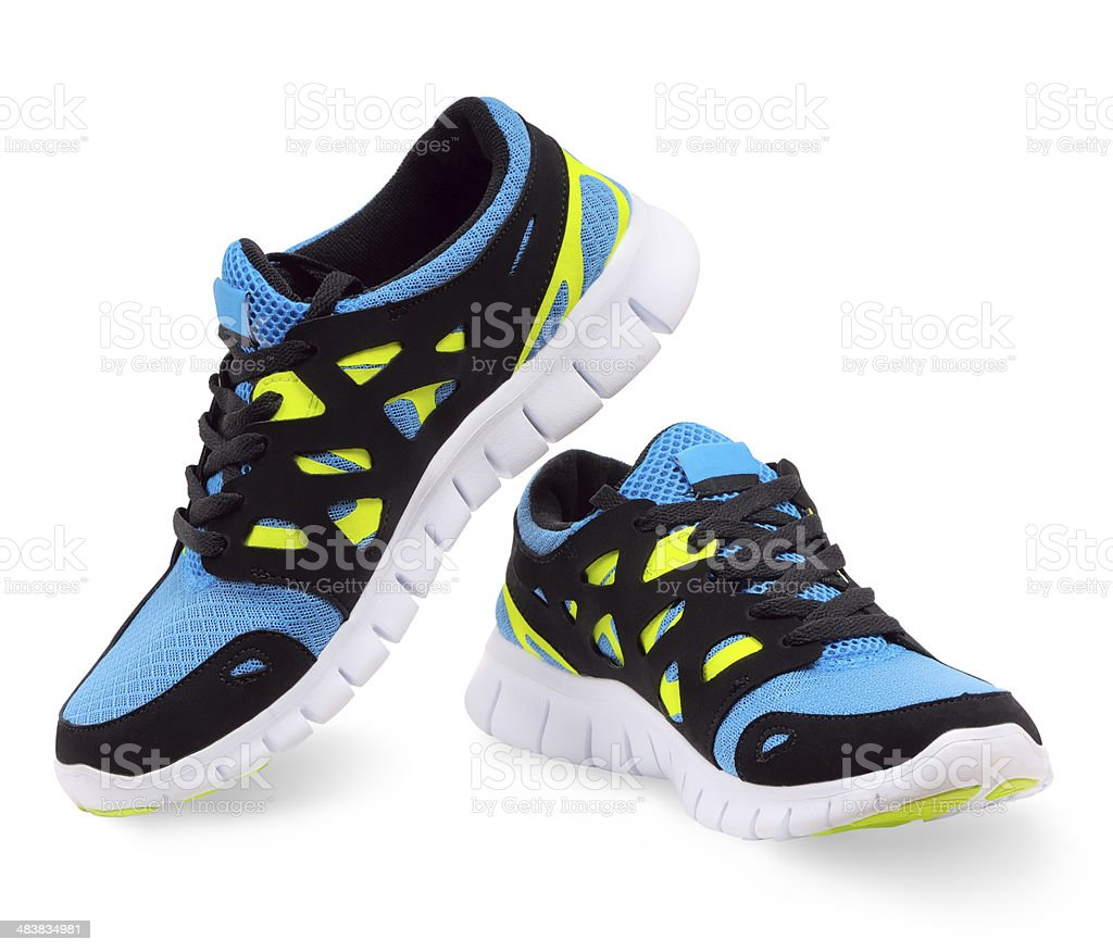 Lightweight running shoes stock photo