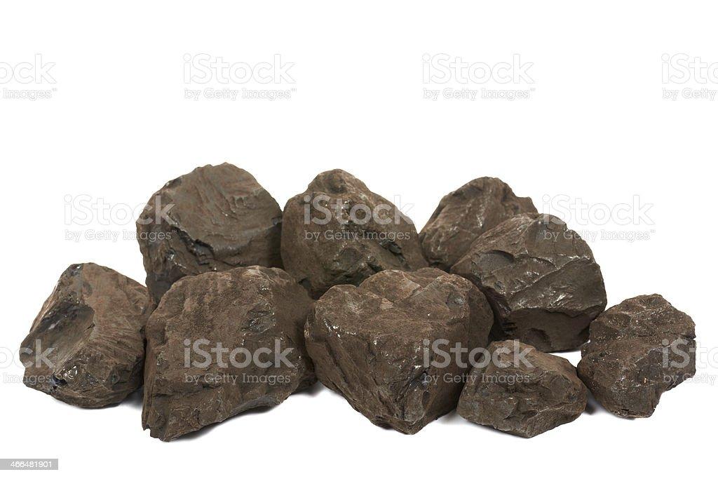 Lignite coal stock photo