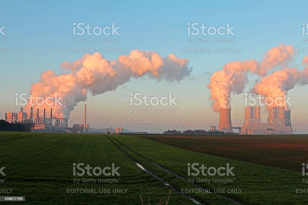 Lignite power station stock photo