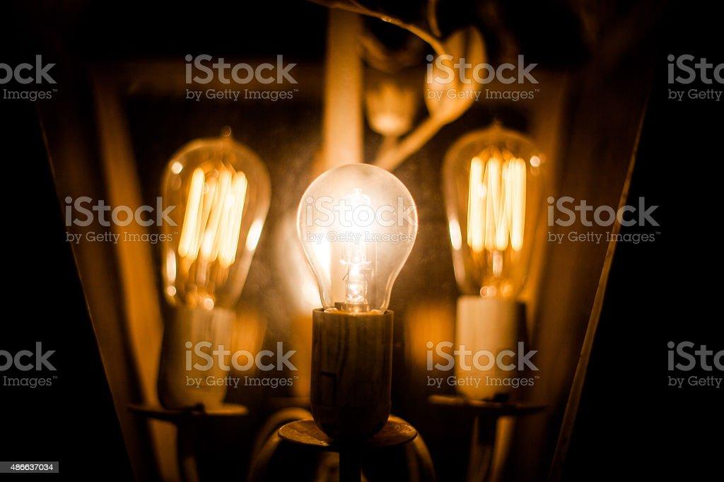 Ligth bulbs stock photo