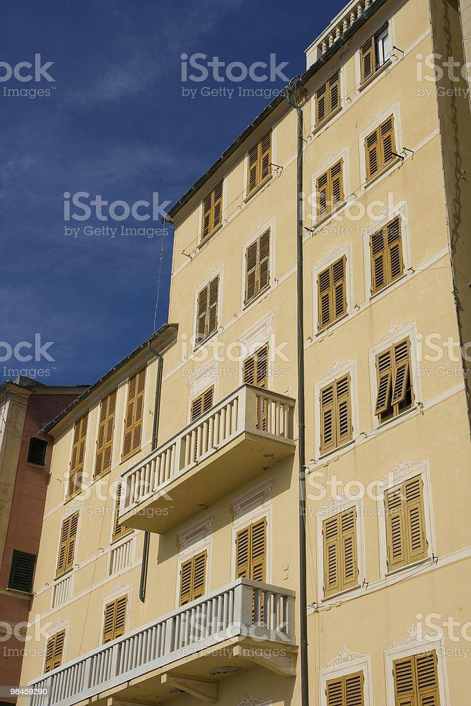 Ligurian Panorama Coast - Camogli, Italy royalty-free stock photo