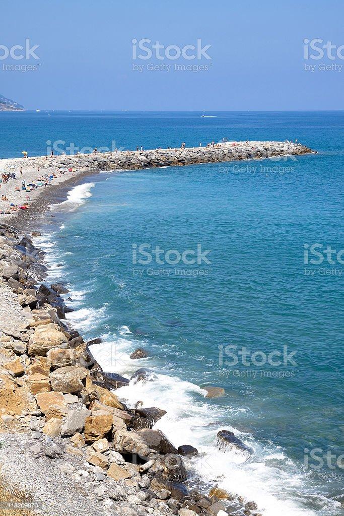 Ligurian Seascape, Liguria Panorama Coast - Italy royalty-free stock photo
