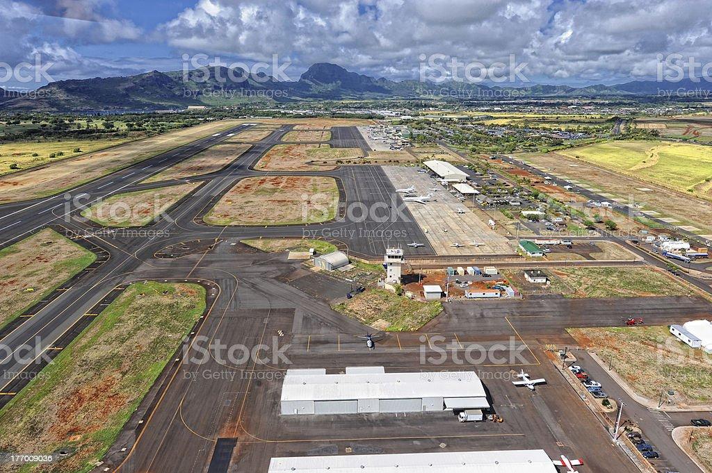 Lihue Airport of Kauai, Hawaii stock photo
