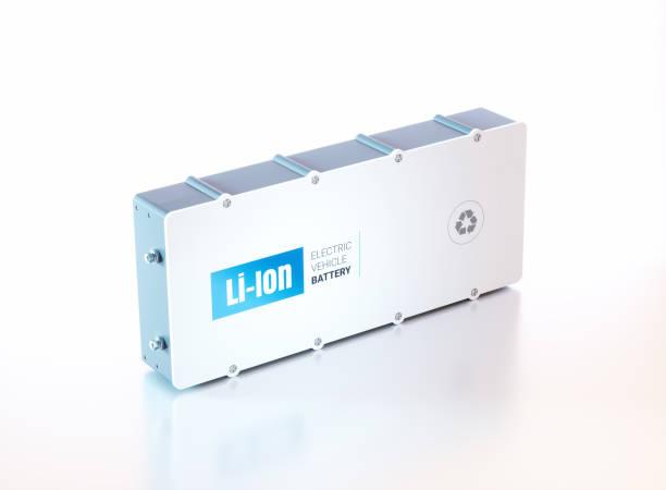 li-ionbatterie elektrofahrzeug. 3d-rendering. - batterie stock-fotos und bilder