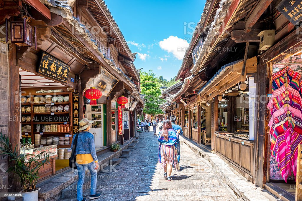 Lijiang old town ,China stock photo