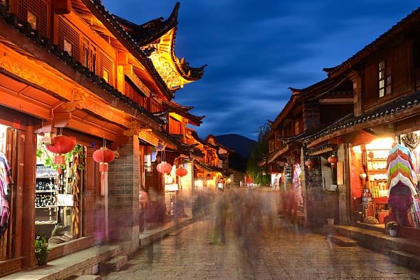 Lijiang Old Town, South China stock photo