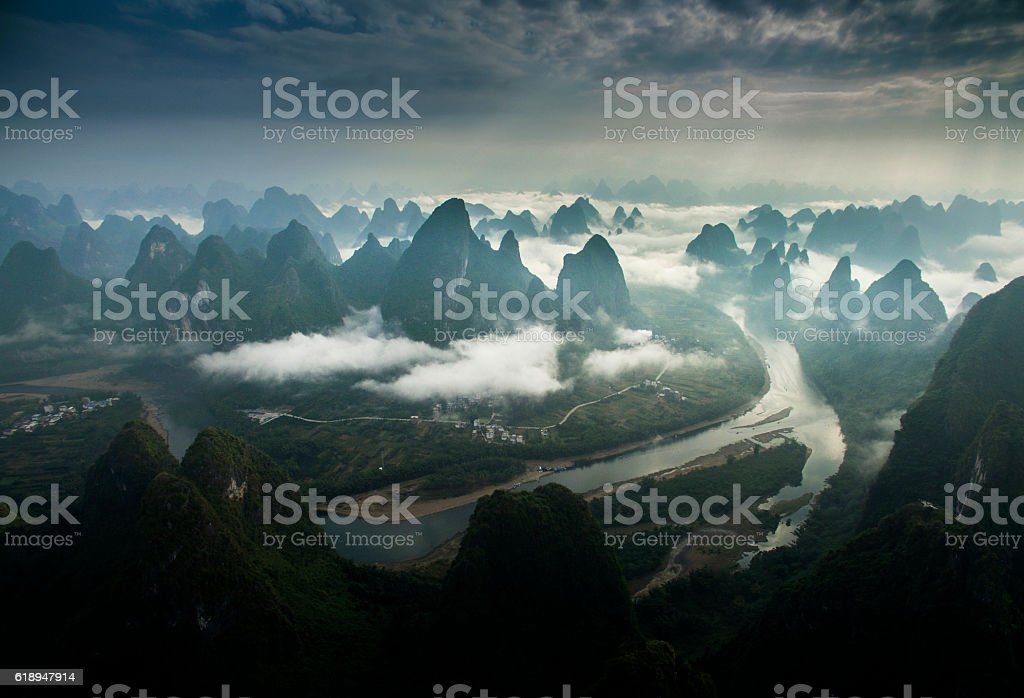 Lijiang Sunrise stock photo
