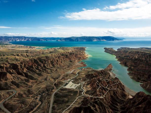 lijiaxia reservoir in Kanbula national forest park, entitled