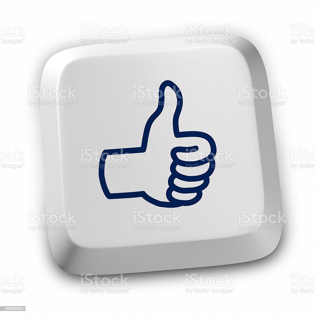 Like Global Friendship Satisfaction Admiration icon keyboard royalty-free stock photo