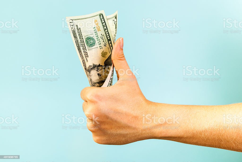 Like Money in the hand stock photo