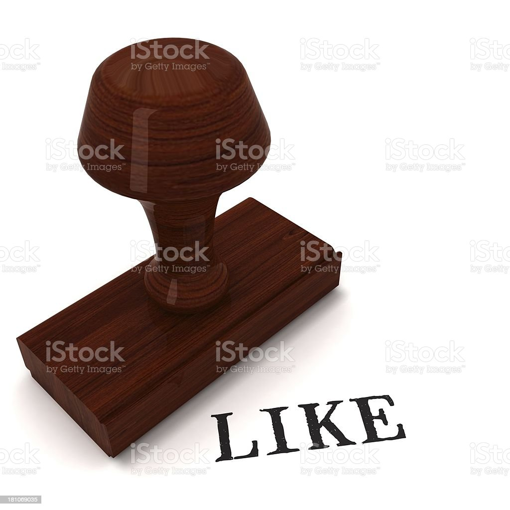 Like - rubber stamp royalty-free stock photo