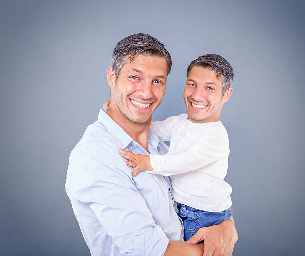 like the father so the son stock photo