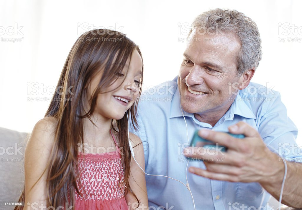 I like this song grandad! royalty-free stock photo