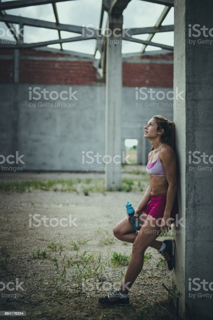 I like when I get so tired on sports training! royalty-free stock photo