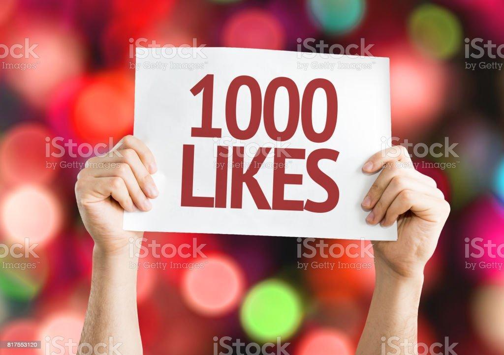 1000 Likes - foto stock