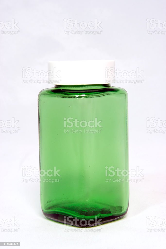 Lil Green Bottle stock photo