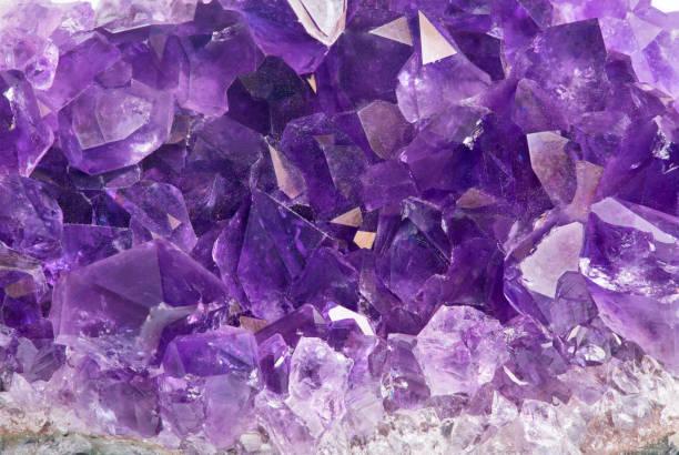 lilac amethyst group macro stock photo