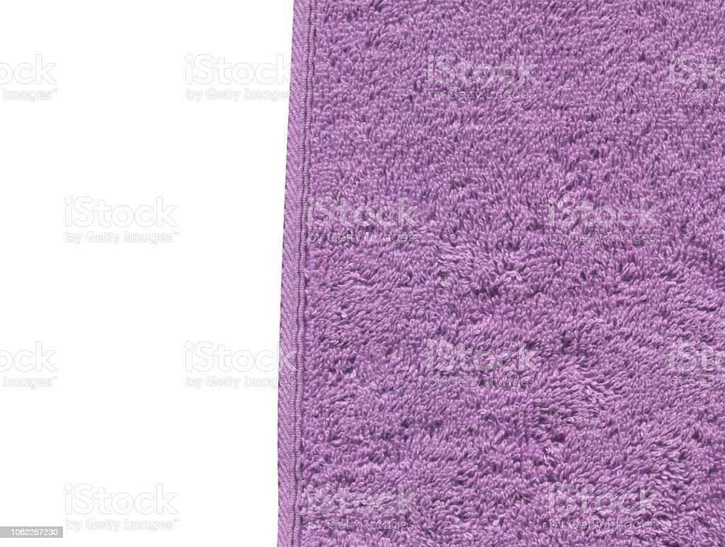 Sensational Lilac Color Bath Cotton Towel Texture Isolated On White Home Interior And Landscaping Ologienasavecom