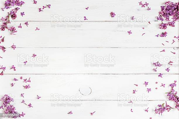 Lilac flowers on white wooden background top view flat lay picture id538558702?b=1&k=6&m=538558702&s=612x612&h=rbcpcse6d smyj9nq3w6zmtbcaxtd7tjybdy1yt1gno=